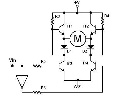 Schema elettrico di un motore a