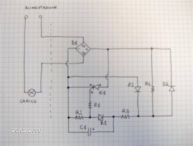 Schema circuito led lampeggiante