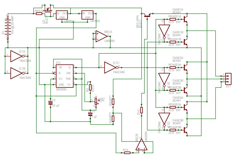 Schema Elettrico Regolatore Di Tensione Velocità Motore Elettrico Corrente Continua : Regolatore brushless autocostruito pagina