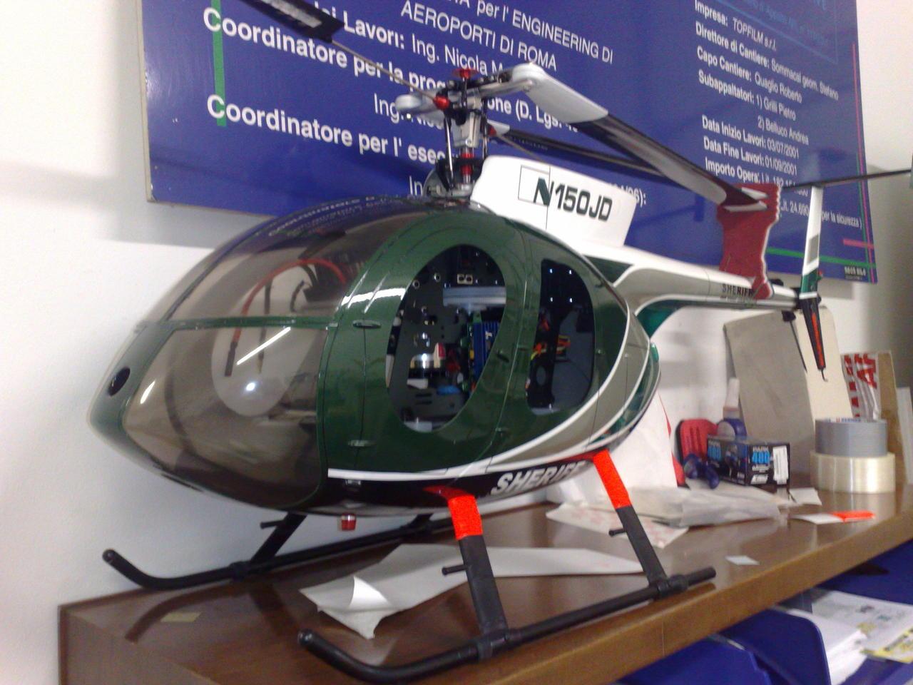 Elicottero T Rex 500 : Primo elicottero elettrico t rex pagina