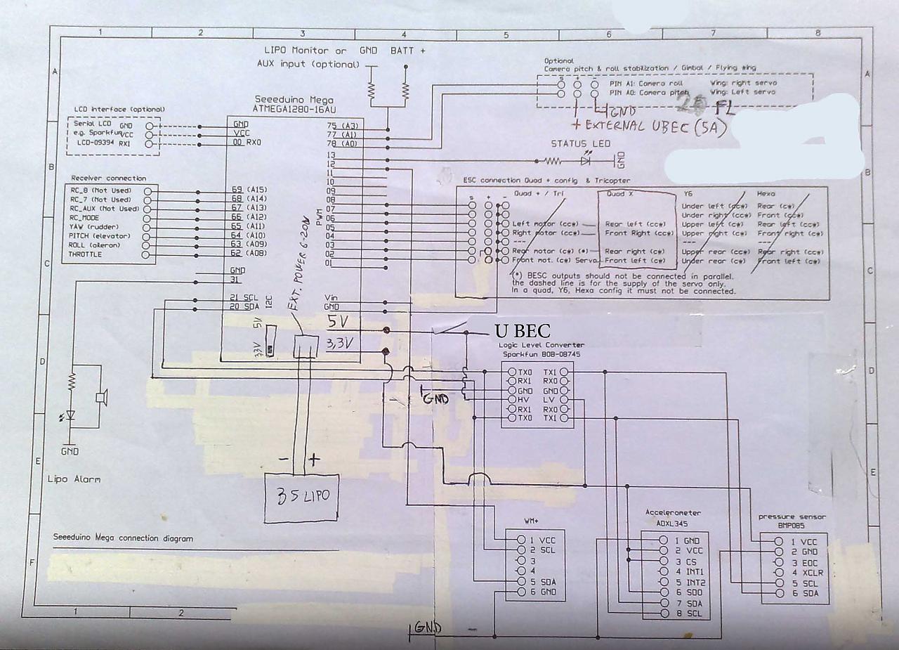 Schema Elettrico Quad Cinese : Multiwii quad alternativa ad aeroquad baronpilot con