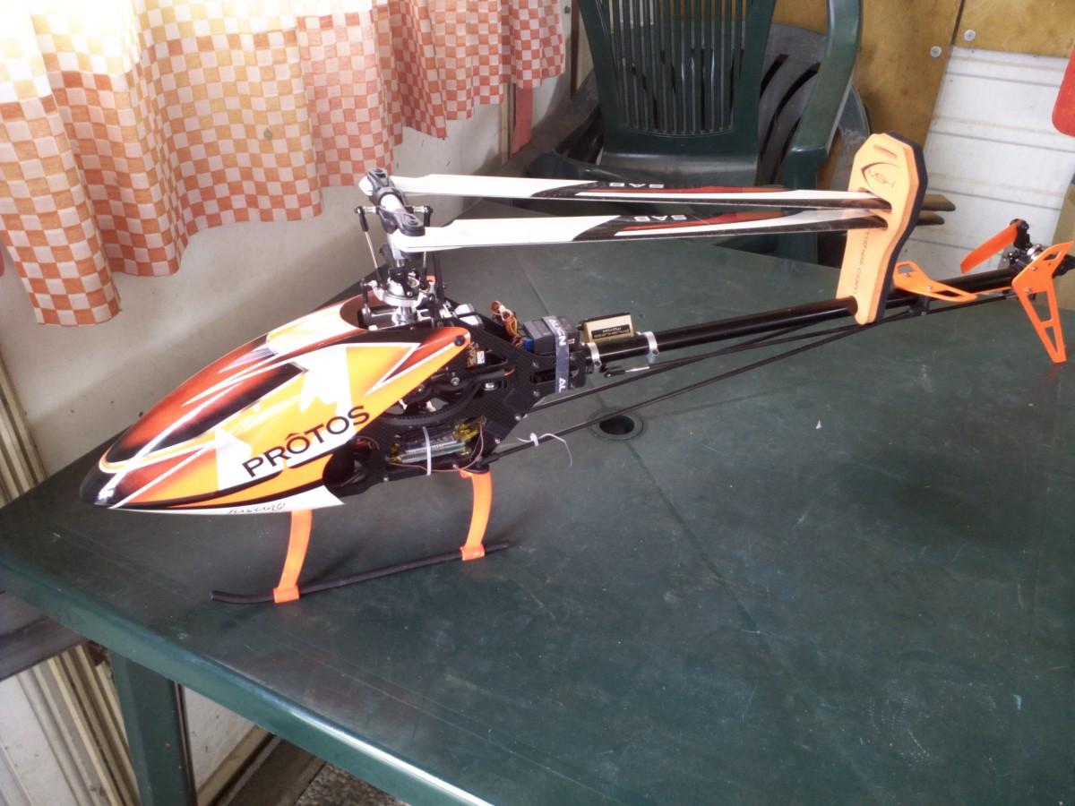 Elicottero 500 : Elicottero completo protos carbon kit stretch xbar