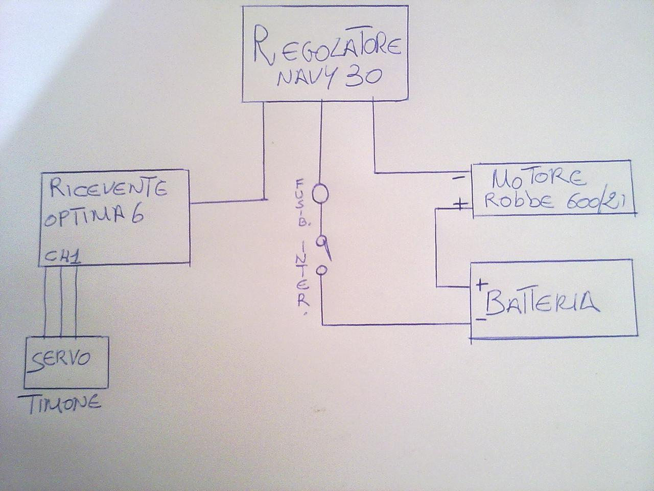 Schema Elettrico : Impianto elettrico barchino baronerosso forum modellismo