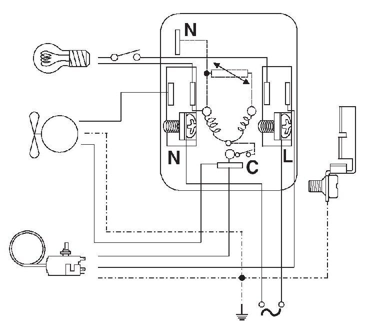 Schema Collegamento Gruppo Frigo : Schema elettrico termostato frigorifero fioriera con