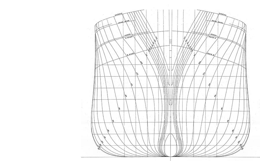 Interpretazione disegno di cantiere for Piani di casa di prua
