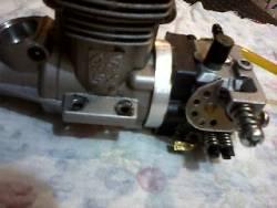 Motore Os50 Hyper Gasser con aspirazione lamellare.