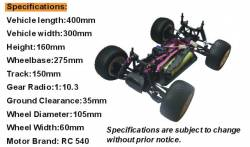 Truggy Hsp Specifiche